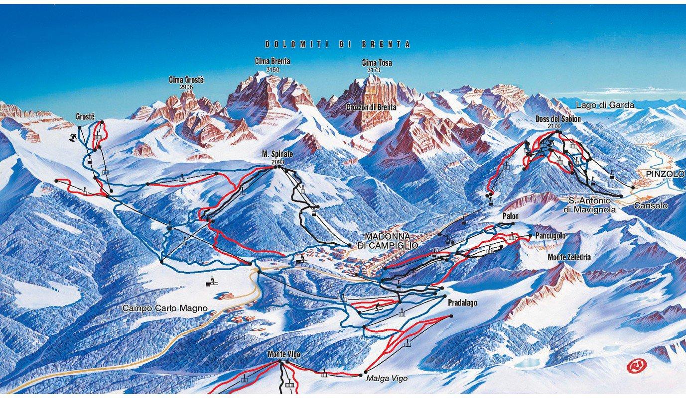 skigebied van pinzolo